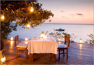 Romantic dining with fabulous views